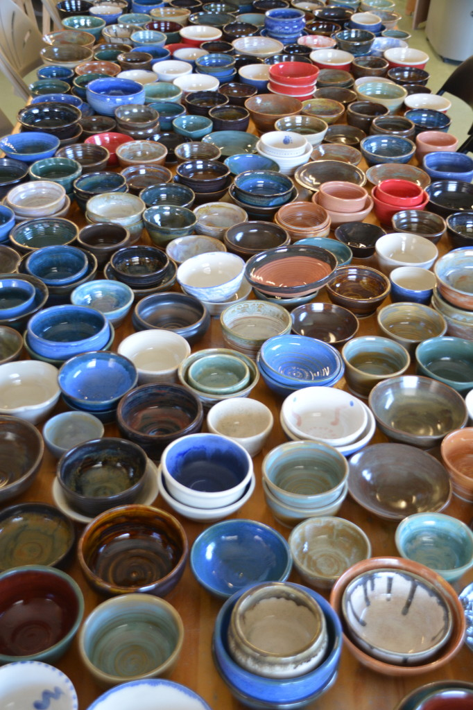550 Gallery collection of bowls for 2014 Empty Bowl